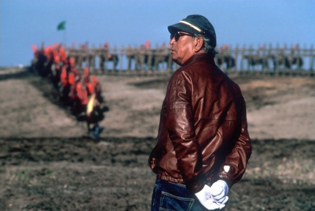 Akira Kurosawa on the set of -Kagemusha- 2